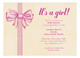 Baby Girl Bow Invitation