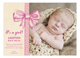 Baby Girl Bow Photo Card