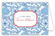Blue China Folded Note Card