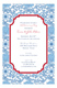 Blue China Invitation