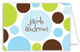 Blue Chocolate Lime Dots Note Card
