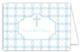 Blue Cross Tile Pattern Folded Note Card