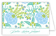 Blue Green Garden Folded Note Card