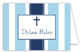 Blue Stripe Cross Folded Note Card