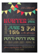 Chalkboard Birthday Boy Invitation