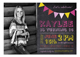 Chalkboard Birthday Girl Photo Card