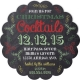 Scallop Chalkboard Christmas Invitation