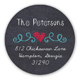 Chalkboard Holiday Wishes Round Sticker