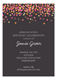Charcoal Falling Confetti Invitation