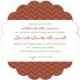 Chevron Christmas Scallop Invitation