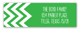 Chevron Green Address Label