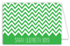 Chevron Green Folded Note Card