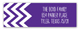 Chevron Purple Address Label