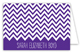 Chevron Purple Folded Note Card