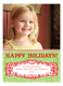 Christmas Burlap Photo Card