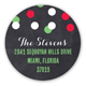 Christmas Confetti Round Sticker