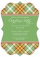Christmas Tartan Bracket Invitation