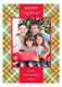 Christmas Tartan Photo Card