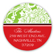 Classic Lime Textile Round Sticker