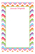 Colorful Chevron Notepad