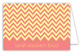 Coral Chevron Folded Note Card