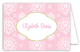 Cute Pink Floral Folded Note Card