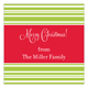 Deck the Halls Green Square Sticker