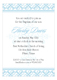 Fancy Blue Cross Baptism Invitations for Boys