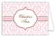 Fancy Pink Cross Folded Note Card