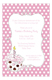 First Birthday Pink Cupcake Invitations for Girls