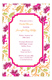 Fuchsia Botanical Bridal Shower Brunch