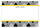 Fun Argyle Grad Grey Flat Note Card
