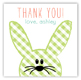 Funny Bunnies Square Sticker