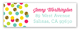 Glitter Color Confetti Address Label