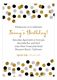 Gold Glitter Confetti Invitation