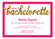 Glitter Soiree Bachelorette Party Invitation
