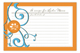 Gourmet Get-Together Tangerine Recipe Card
