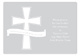 Grey Cross Banner Enclosure Card