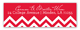 Holiday Chevron Address Label