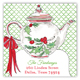 Holiday Christmas Tea Square Sticker