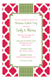 Holiday Cranberry Tile Invitation