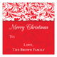 Holiday Door Square Sticker