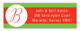 Holiday Dot White Address Label