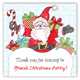 Holiday Jolly Ole St. Nick Square Sticker