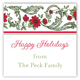 Holiday Moss Cranberry Floral Square Sticker