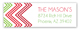 Holiday Red Green Chevron Address Label