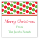 Holiday Red Green Tiny Dots Square Sticker
