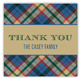 Holiday Tartan Square Sticker