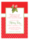 Holiday Party Holly Invitations