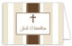 Khaki Stripe Cross Folded Note Card